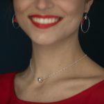 Collier chaine brillante et perle