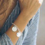 Bracelet maille ovale et médaille à graver