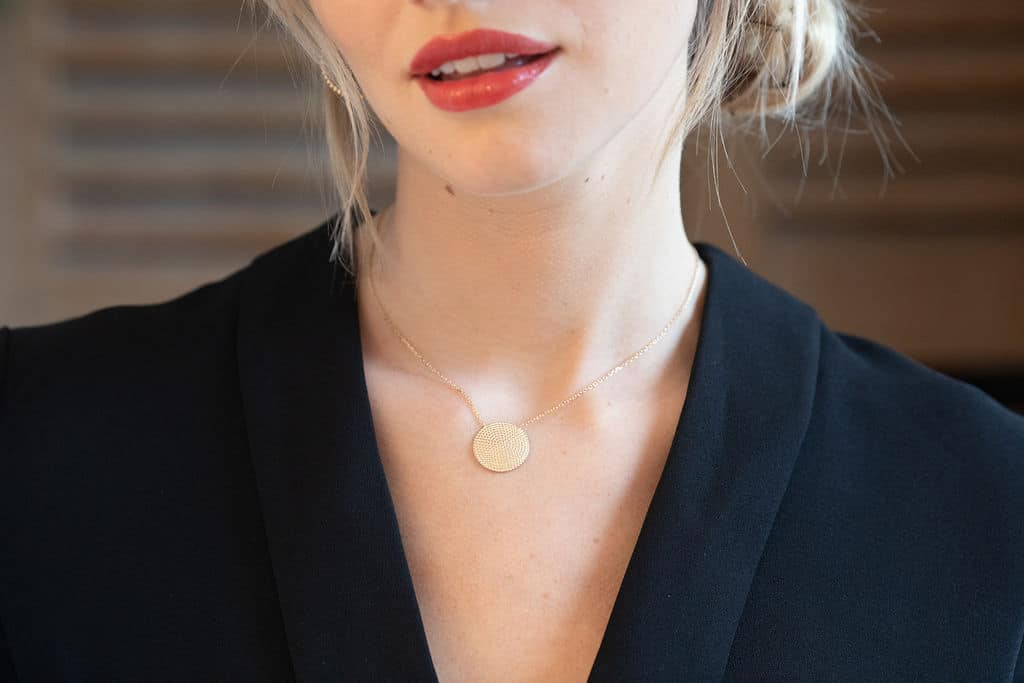 Collier pendentif soleil plaqué or 3 microns