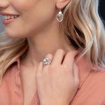 Boucles d'oreilles en cristal de roche et argent 925