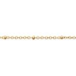 Collier chaine perles et médaillon croix zirconium plaqué or 3 microns